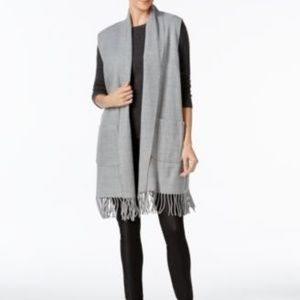 Cejon Womans Milanese Heathered Woven Vest  NWT